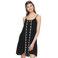 Juniors' Mudd® Tie-Front Tiered Dress
