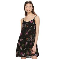 Juniors' Mudd® Tie-Front Tiered Dress