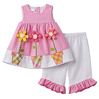 Baby Girl Bonnie Jean Seersucker Tunic & Ruffled Capris Set