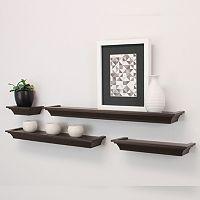 Kiera Grace Classic Ledge Wall Shelf 4-piece Set