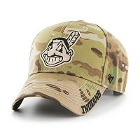 Adult '47 Brand Cleveland Indians Frost MVP Multicam Adjustable Cap