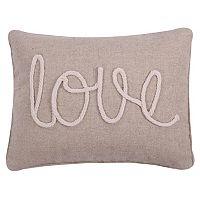 Levtex ''Love'' Rope Oblong Throw Pillow