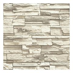 Roommates Faux Stacked Stone Peel & Stick Wallpaper Wall Decal by