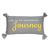 Levtex Taryn ''Life Is An Incredible Journey'' Oblong Throw Pillow