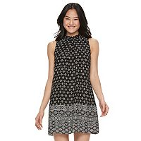 Juniors' Speechless Print Mockneck Shift Dress