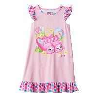 Girls 4-12 Shopkins Bun Bun Slipper Easter Ruffle Dorm Nightgown