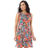 Women's AB Studio Floral Paisley Swing Dress