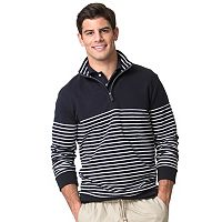 Men's Chaps Classic-Fit Striped Easy-Care Quarter-Zip Pullover