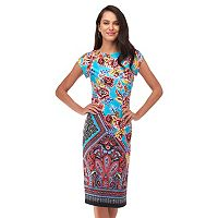 Women's Indication Floral Paisley Sheath Dress