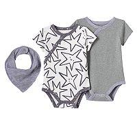 Baby Jumping Beans® Print & Graphic Kimono Bodysuits & Bib Set