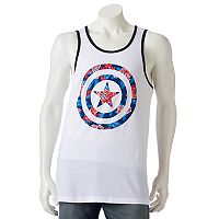 Men's Marvel Captain America Floral Tank