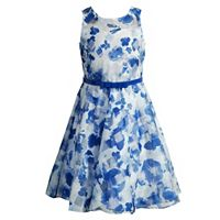 Girls 7-16 Emily West Blue Floral Organza Occasion Dress