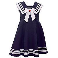Girls 7-16 Bonnie Jean Fit & Flare Poplin Nautical Dress