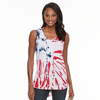 Women's World Unity Tie-Dye Flag Tank