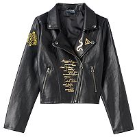 Girls 7-16 Harry Potter Patch Moto Jacket
