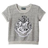 Girls 7-16 Harry Potter Hogwarts Graphic Sweater Knit Crop Top Tee