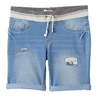 Girls 7-16 & Plus Size SO® Metallic Ribbed Waist Bermuda Shorts