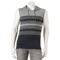 Men's Ocean Current Striped Sleeveless Hoodie