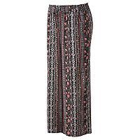 Juniors' Plus Size Joe B Floral Palazzo Pants