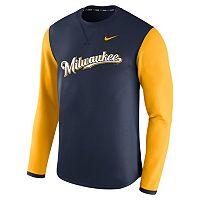 Men's Nike Milwaukee Brewers Modern Waffle Fleece Sweatshirt