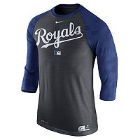 Men's Nike Kansas City Royals AC Dri-FIT Raglan Tee