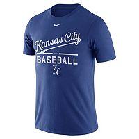 Men's Nike Kansas City Royals Away Practice Ringspun Tee