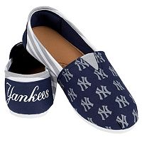 Women's Forever Collectibles New York Yankees Striped Canvas Shoes
