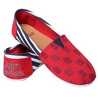 Women's Forever Collectibles St. Louis Cardinals Striped Canvas Shoes