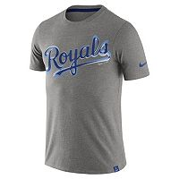 Men's Nike Kansas City Royals Marled Wordmark Tee