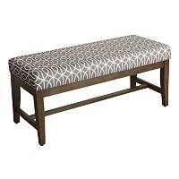 HomePop Finley Geometric Bench