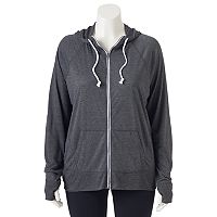 Juniors' Plus Size SO® Solid Zip-Up Hoodie