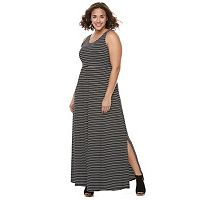 Juniors' Plus Size SO® Crossback Maxi Dress