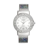 Studio Time Women's Simulated Abalone Cuff Watch