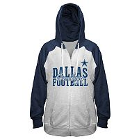 Women's Plus Majestic Dallas Cowboys Full-Zip Hoodie