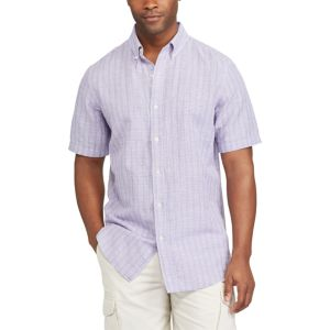 Men's Chaps Classic-Fit Linen-Blend Button-Down Shirt