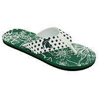 Women's College Edition Michigan State Spartans Floral Polka-Dot Flip-Flops