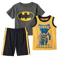 Boys 4-7 DC Comics Batman Tee, Tank & Shorts Set