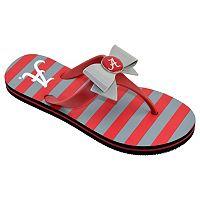 Women's College Edition Alabama Crimson Tide Bow Flip-Flops