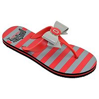 Women's College Edition Ohio State Buckeyes Bow Flip-Flops