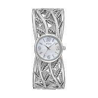 Folio Women's Openwork Leaf Cuff Watch