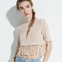 k/lab Fringe Crop Sweater