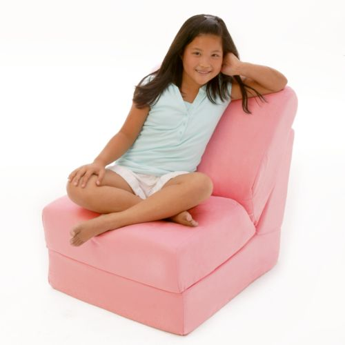 Fun Furnishings Pink Microsuede Sleeper Chair - Teen