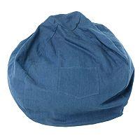 Fun Furnishings Blue Denim Small Beanbag Chair - Kids