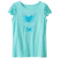 Girls 4-12 SONOMA Goods for Life™ Crochet-Sleeved Tee