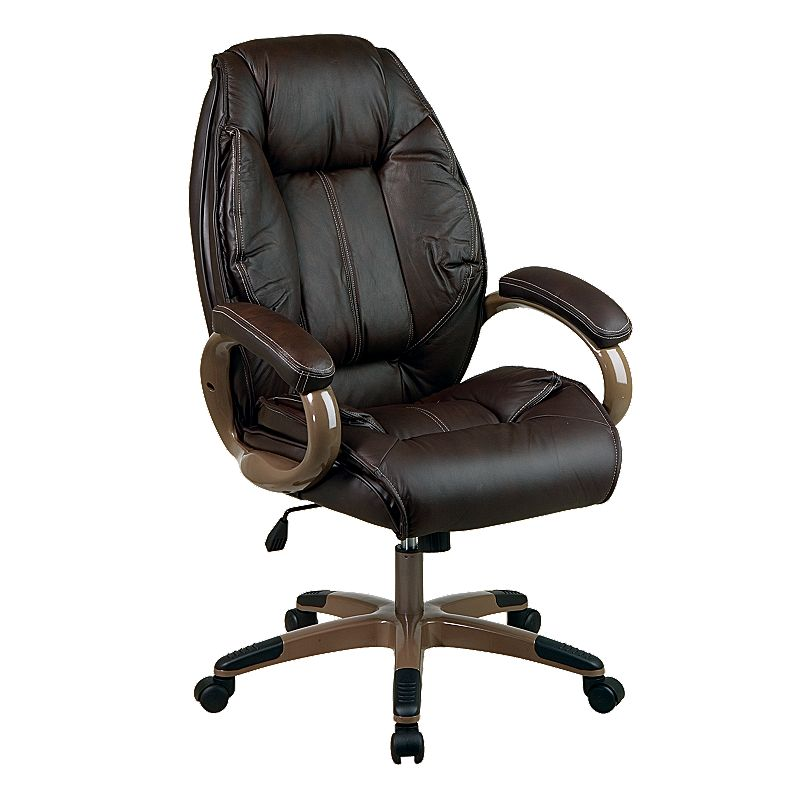 Office Star Soft Leather Executive Chair