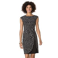 Women's Chaps Polka-Dot Tulip-Hem Dress