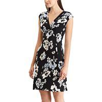 Women's Chaps Floral Surplice Empire Dress
