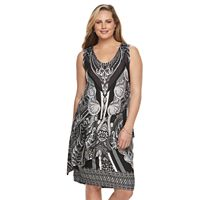 Plus Size World Unity Wrap Overlay Dress