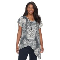 Plus Size World Unity Asymmetrical Necklace Top
