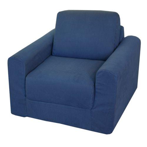 Fun Furnishings Blue Denim Sleeper Chair - Kids